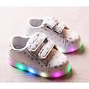 baratos Sapatos de Menina-Para Meninas Sapatos Courino Outono / Inverno Conforto Tênis para Branco / Preto / Rosa claro