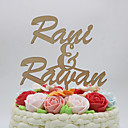 cheap Cake Toppers-Cake Topper Classic Theme Rustic Theme Vintage Theme Classic Couple Chrome Wedding Anniversary With Poly Bag