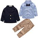 cheap Boys' Clothing Sets-Boys' Striped Clothing Set, Rayon Spring Fall Long Sleeves Street chic Blue