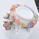 cheap Bracelets-Women's Charm Bracelet Strand Bracelet - Resin Flower Dainty, European, Fashion Bracelet Blue / Pink For Party Daily