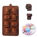hesapli Çerez Araçları-Suaygırı ayı aslan 3d çikolata silikon kalıp diy buz küpü sabun şeker kalıp kek dekorasyon