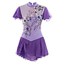 cheap Ice Skating Dresses , Pants & Jackets-Figure Skating Dress Women's / Girls' Ice Skating Dress Light Purple Spandex Rhinestone / Appliques High Elasticity Performance Skating