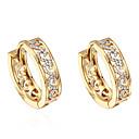 cheap Earrings-Women's Cubic Zirconia Hoop Earrings - Zircon, Gold Plated Gold For Daily