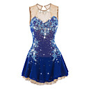 cheap Ice Skating Dresses , Pants & Jackets-Figure Skating Dress Women's / Girls' Ice Skating Dress Aquamarine Spandex Rhinestone / Appliques Performance Skating Wear Handmade