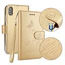 זול מגנים לטלפון & מגני מסך-מגן עבור Apple iPhone X iPhone 8 מחזיק כרטיסים ארנק עם מעמד נפתח-נסגר מובלט כיסוי מלא פרפר קשיח עור PU ל iPhone X iPhone 8 Plus iPhone 8