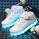 cheap Boys' Shoes-Boys' Shoes PU Fall / Winter Light Soles / Light Up Shoes Sneakers LED for Black / Blue / Pink