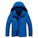cheap Softshell, Fleece & Hiking Jackets-Men's Hiking Jacket Outdoor Windproof Rain-Proof Jacket Top Full Length Visible Zipper Camping / Hiking Climbing Cycling / Bike Back
