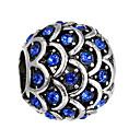 זול חרוזים-כדור חרוזים תכשיטים DIY - אבן נוצצת אדום / כחול בהיר / כחול ים צמידים שרשראות
