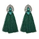 זול תוספות שיער בגוון טבעי-בגדי ריקוד נשים עגילי טיפה - חיקוי טורמלין פשוט, בסיסי ירוק / כחול / חום בהיר עבור יומי / פגישה (דייט)