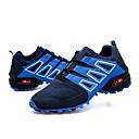 זול נעלי ספורט לגברים-בגדי ריקוד גברים דמוי עור / טול אביב / חורף נוחות נעלי אתלטיקה קולור בלוק שחור / אפור / כחול / ריצה