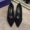 זול מוקסינים לנשים-בגדי ריקוד נשים נעליים עור נובוק / עור אביב / סתיו נוחות עקבים עקב עבה שחור / אדום