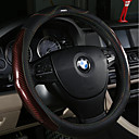 cheap Steering Wheel Covers-Steering Wheel Covers Carbon Fiber 38cm Brown / Black / Orange For universal