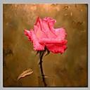 זול ציורי פרחים/צמחייה-ציור שמן צבוע-Hang מצויר ביד - פרחוני / בוטני קלסי בַּד