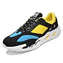 זול סניקרס לגברים-בגדי ריקוד גברים PU אביב / סתיו נוחות נעלי אתלטיקה לבן / שחור