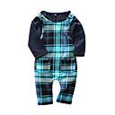 ieftine Set Îmbrăcăminte Băieți Bebeluși-Bebelus Băieți Casual Zilnic Plisat Manșon Lung Bumbac Set Îmbrăcăminte Bleumarin 90