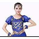 olcso Hastánc ruha-Hastánc Felsők Női Teljesítmény Sifon Fénylő Rövid ujjú Magas Felső