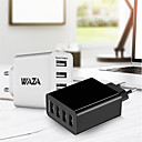 cheap Phone Cables & Chargers-WAZA Portable Charger USB Charger EU Plug Fast Charge / Multi Ports 4 USB Ports 5 A for iPhone 8 Plus / iPhone 8 / S8 Plus