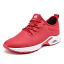 זול נעלי ספורט לגברים-בגדי ריקוד גברים אור סוליות PU אביב / סתיו נעלי אתלטיקה הליכה שחור / אדום / שחור אדום