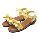 זול נעלי ילדות-בנות נעליים PU אביב / קיץ חדשני / נעליים לילדת הפרחים סנדלים פפיון / סקוטש ל צהוב / ורוד / מסיבה וערב