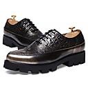 זול נעלי בד ומוקסינים לגברים-נעליים PU אביב סתיו נוחות נעלי אוקספורד ל קזו'אל זהב שחור חום