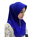 cheap Ethnic & Cultural Costumes-Fashion Headpiece Hijab / Khimar Abaya Coffee Brown Red Blue Pink Silk Cosplay Accessories
