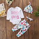 ieftine Set Îmbrăcăminte Bebeluși-Bebelus Fete Simplu / Casual Ieșire Geometric Manșon Lung Bumbac Set Îmbrăcăminte / Copil