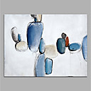 cheap Wall Stickers-Oil Painting Hand Painted - Abstract Modern Canvas