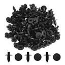 cheap Pressed Powders-100pcs Black 7mm Car Bumper Push-Style Pin Clips Plastic Rivet Trim Fastener