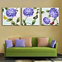 voordelige Prints-Op gespannen doek Rustiek Modern, Drie panelen Kangas Vierkant Print Muurdecoratie Huisdecoratie