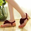 זול נעלי עקב לנשים-בגדי ריקוד נשים נעליים PU אביב / סתיו נוחות סנדלים עקב נמוך שחור / בז' / Wine
