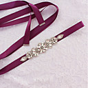 cheap Party Sashes-Satin / Tulle Wedding / Special Occasion Sash With Rhinestone Women's Sashes