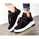 preiswerte Damen Stiefel-Damen Schuhe Nubukleder Frühling / Herbst Komfort Sneakers Keilabsatz Schwarz / Grau / Khaki