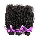 cheap One Pack Hair-3 Bundles Brazilian Hair Kinky Curly Virgin Human Hair Natural Color Hair Weaves 8-28 inch Human Hair Weaves Human Hair Extensions Women's