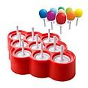 billige Bageredskaber-silikone islolly pops skimmel ismaskine popsicle bold med 9 sticks