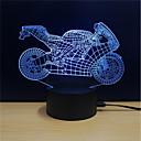 זול תאורה מודרנית-1set LED לילה אור / אור תלת ממדי שנה החלפת צבעים / יצירתי / קישוט 5 V