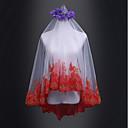 preiswerte Anime Cosplay Zubehör-Einschichtig Hochzeit / Brautkleidung Hochzeitsschleier Ellbogenlange Schleier mit Spitze Tüll / Klassisch
