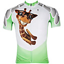 cheap Cycling Jerseys-ILPALADINO Men's Short Sleeve Cycling Jersey - White / Green Cartoon / Animal Bike Jersey, Quick Dry, Ultraviolet Resistant, Breathable
