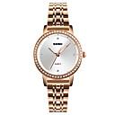 abordables Relojes de Moda-SKMEI Mujer Reloj de Pulsera Japonés Resistente al Agua / Reloj Casual / La imitación de diamante Acero Inoxidable Banda Lujo / Casual / Moda Plata / Oro Rosa / Un año