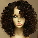 cheap Human Hair Wigs-Human Hair Glueless Lace Front Lace Front Wig Brazilian Hair Curly Wig 130% Density with Baby Hair Natural Hairline Unprocessed Glueless Women's Short Medium Length Human Hair Lace Wig EVA HAIR