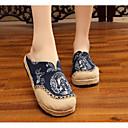 זול נעלי ספורט לגברים-בגדי ריקוד נשים נעליים פשתן אביב / סתיו נוחות סוגי כפכפים עקב נמוך כחול