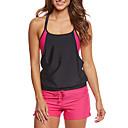 billige Trendy klokker-Dame Sporty Med stropper Bikinikjole - Grunnleggende, Boy Leg Fargeblokk