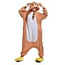 preiswerte Kigurumi Pyjamas-Erwachsene Kigurumi-Pyjamas Bär Pyjamas-Einteiler Polar-Fleece Orange Cosplay Für Herren und Damen Tiernachtwäsche Karikatur Halloween Fest / Feiertage