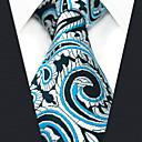 baratos Acessórios Masculinos-gravata do rayon do trabalho do partido dos homens - jacquard de paisley do bloco da cor
