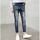 זול פמוטי קיר-בגדי ריקוד גברים כותנה ג'ינסים מכנסיים אחיד