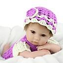 זול בובות-NPK DOLL בובה מחדש תינוקות בנות 18 אִינְטשׁ סיליקון / ויניל - כְּמוֹ בַּחַיִים, ריסים ידניים, ציפורניים אטומות וחותמות הילד של יוניסקס מתנות / CE / עור טבעי / ראש דיסקט