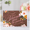 זול מתנות לחתונה-מקופל הזמנות לחתונה 20 - כרטיסי Thank you סגנון קלאסי נייר עם תבליטים דוגמא \ הדפס