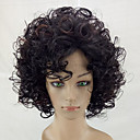 cheap Costume Wigs-Synthetic Wig Kinky Curly Synthetic Hair Highlighted / Balayage Hair Brown Wig Medium Length Capless Brown