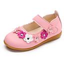 baratos Sapatos Esportivos Masculinos-Para Meninas sapatos Courino Primavera Outono Sapatos para Daminhas de Honra Conforto Rasos para Casual Branco Fúcsia Rosa claro