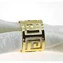 זול טבעת מפית-סגנון ארופאי מתכת עגול טבעת מפית לוח קישוטים 12 pcs