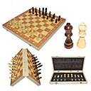 baratos Jogos de xadrez-Jogo de Xadrez Família Magnética Interação pai-filho De madeira Para Meninos Para Meninas Brinquedos Dom 32 pcs